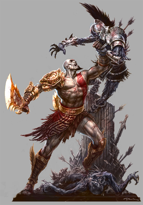 God of War III PSM3 Artwork
