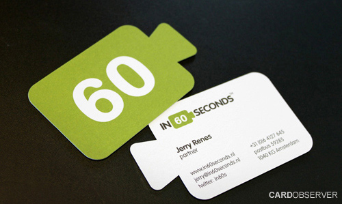 unique shaped business card
