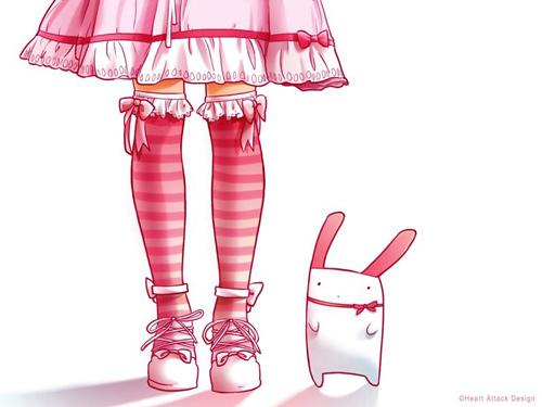 pink rabbit wallpaper