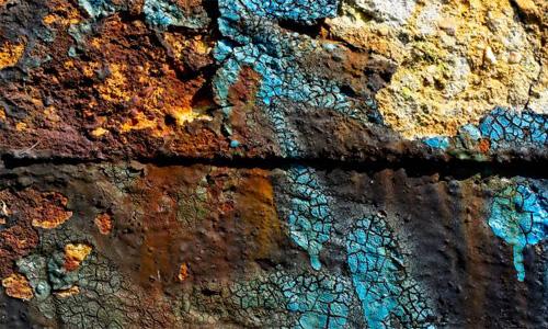 Concrete Cracked Damaged Grunge Peeling Rough Wall