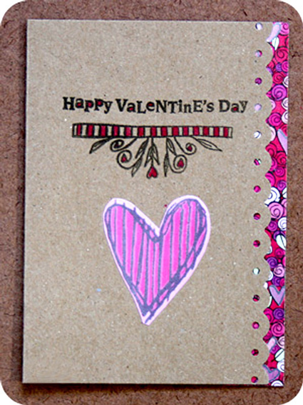 Homemade Valentine Simple Cards Collection