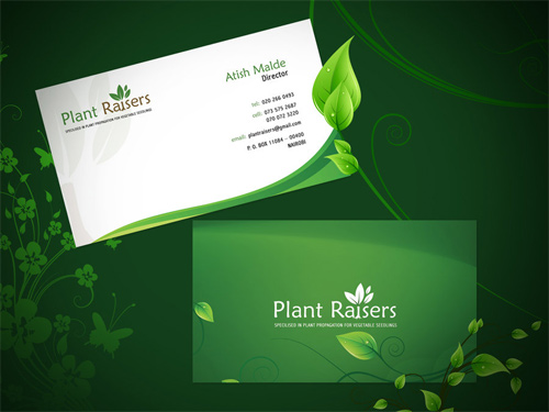 50 Examples Of Green Business Cards Design Naldz Graphics