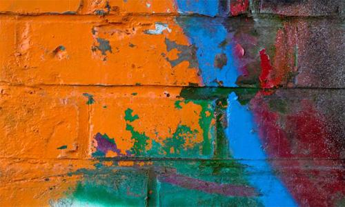 Brick Grunge Paint Peeling Spray Wall