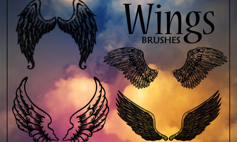 drawing wings photoshop