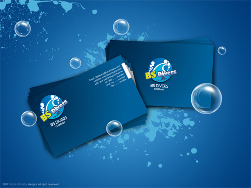 bs divers business cards