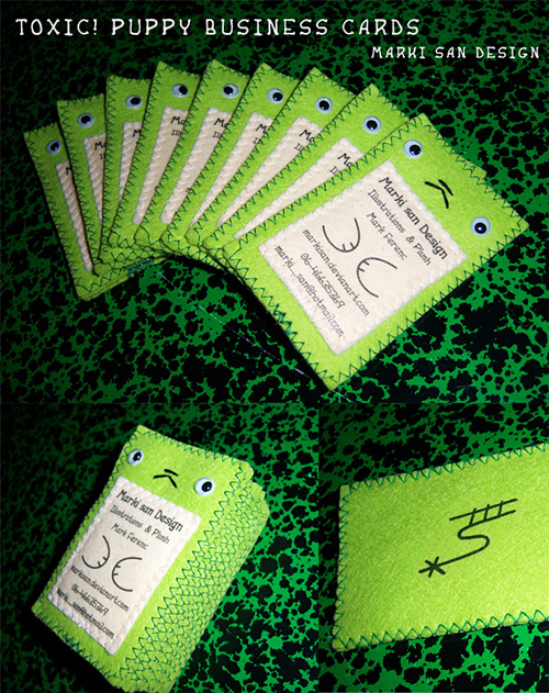 toxic puppy business cards