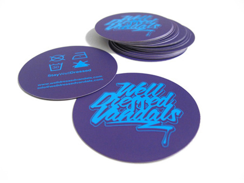 circular business cards