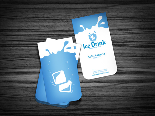 ice drink business card