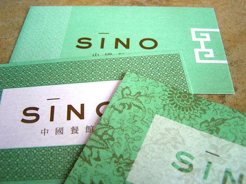 sino business card