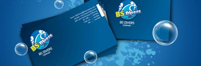 A Showcase of Blue Business Cards Design