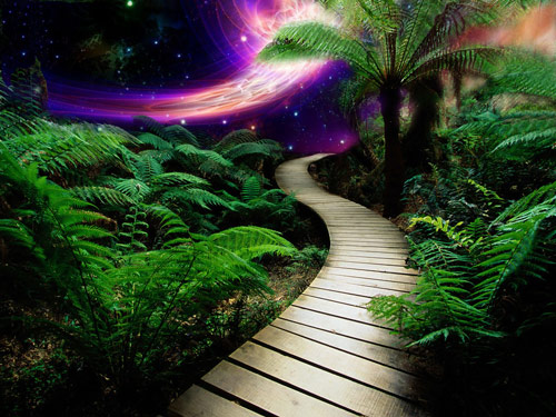 cool tropical galaxy wallpaper