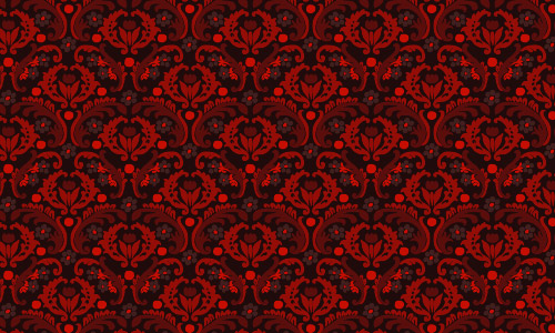 damask pattern red