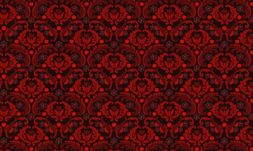 damask pattern red