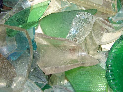 Amazing Broken Sea Glass Macro Texture