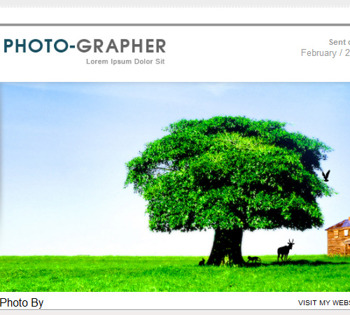 photomail email template