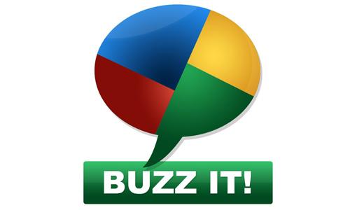 psd of glossy google buzz