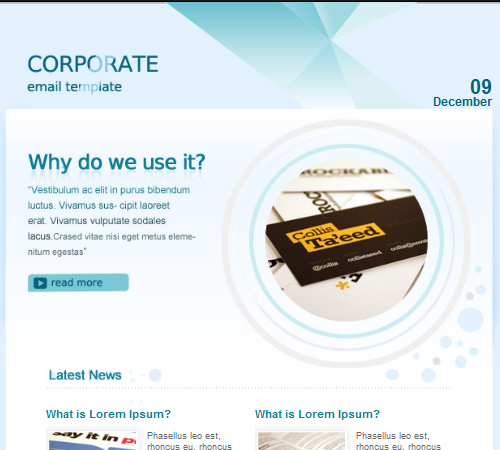 corporate email template