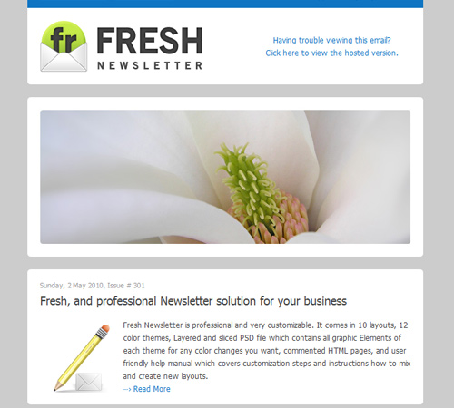 fresh newsletter