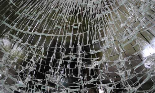 cracked glass