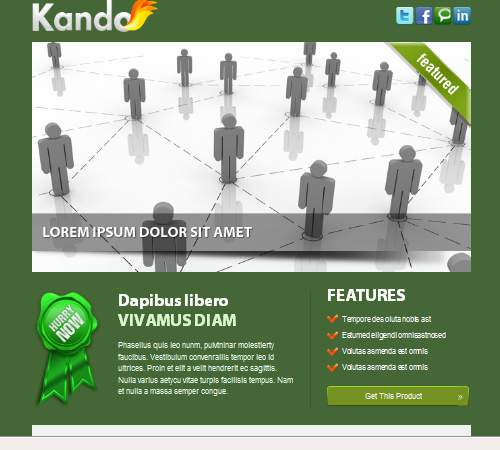 kando email template