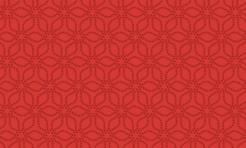 Modern Floral Red Pattern