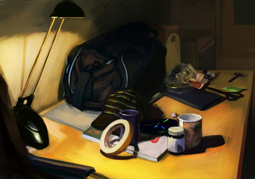 Nice Natural Work Room on Digital Still Life