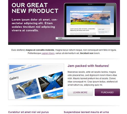 communiqu premium email template