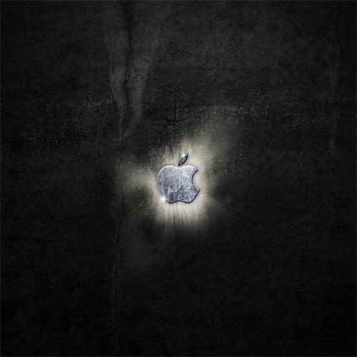 retro apple splatter