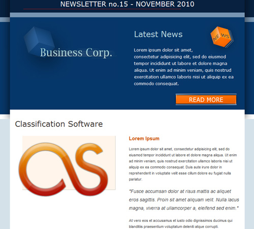 corp newsletter email template