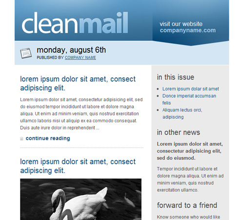 Email Templates To Enhance Your Newsletters Appeal Naldz Graphics - Internal email newsletter templates