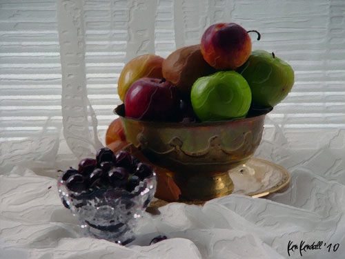 Great Digital Still Life Fruit Creation