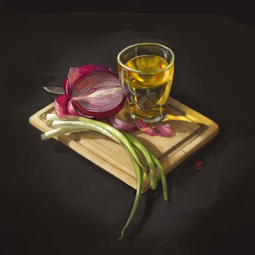 neat digital still life creation