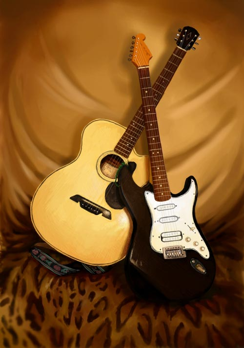 Cool Guitar Still Life