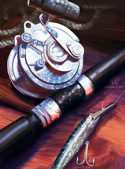 nice go fishing digital still life