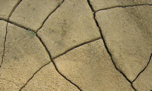 Cracked desert ground texture