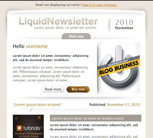 liquid newsletter email