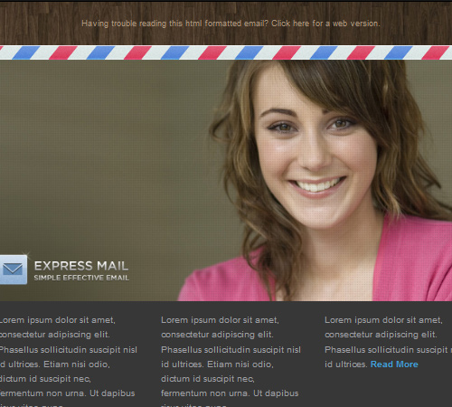 express mail newsletter template