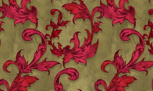 Vintage Scarlet Red Pattern