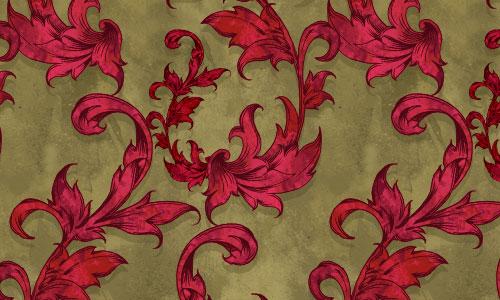 Vintage Scarlet Red Pattern