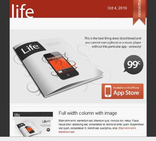 life html email