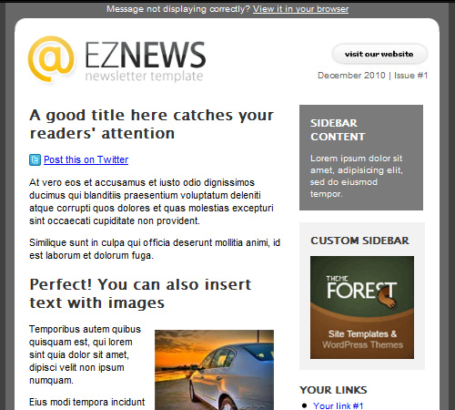 Email Templates To Enhance Your Newsletters Appeal Naldz Graphics - Outlook newsletter template
