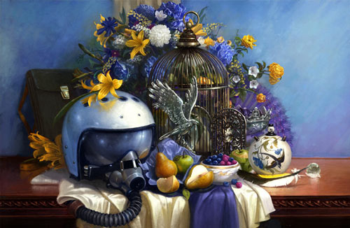 heartwarming digital still life artwork