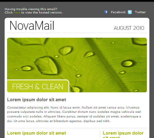 novamail newsletter template