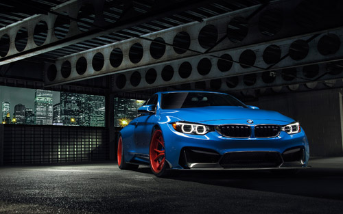 bmw car blue