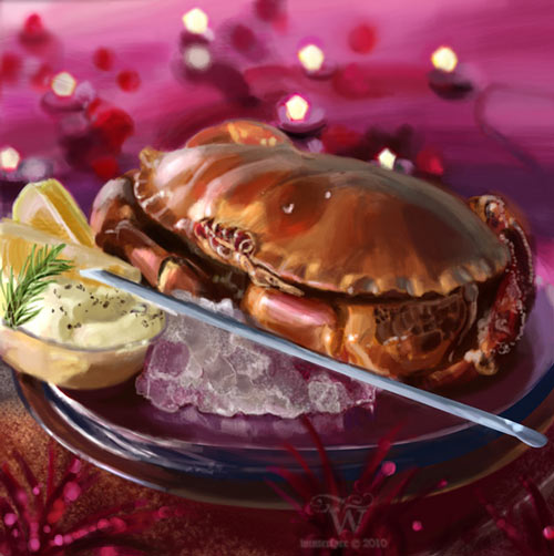 amazing crab dish digital still life