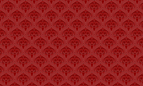 Victorian Red Red Pattern