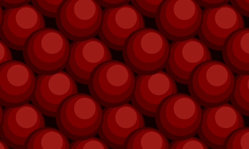 red balls patterns