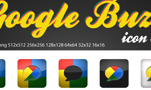 google buzz icons set by