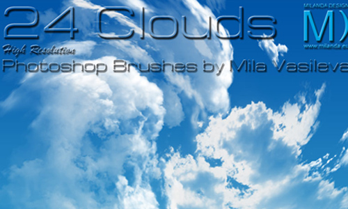24 Clouds - Photoshop Brushes