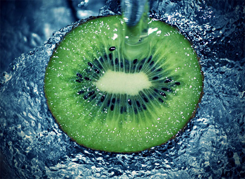 Fresh KiWi high speed photography